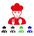 sad cook icon vector image vector image