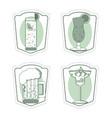 set of bar drinks vector image