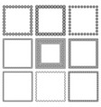 set square frames with oriental ornament vector image vector image