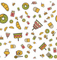 simple food and drink icon seamless pattern vector image vector image