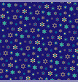 small jewish stars background pattern on blue vector image vector image