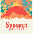 summer travel banner with color spots and splashes vector image vector image