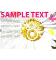 sunflower backdrop with text space vector image vector image