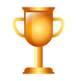 trophy cup award success competition vector image