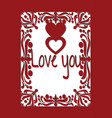 Valentine or wedding card with hearts and love