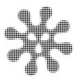 virus halftone icon vector image