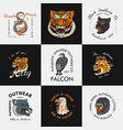 wild vintage animals logo for t-shirt asian vector image vector image