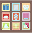 window curtains and room blinds jalousie for house vector image vector image