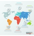 world map and infographics vector image