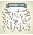 Hand drawn anchor Set of vector image
