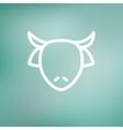 Cow head thin line icon vector image
