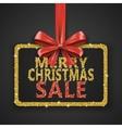 Merry Christmas Sale shiny design template Xmas vector image