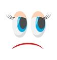 Sad face icon cartoon style vector image