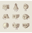set of funny monsters vector image