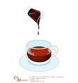 A Cup of Cafe Macchiato or Caffe Macchiato vector image vector image