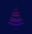 a tree in form of sound waves new vector image vector image