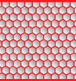 abstract effect honey comb red background vector image vector image