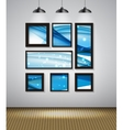 Abstract Gallery Background with Frame and vector image