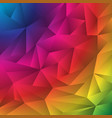 abstract multicolor geometric rumpled triangles vector image vector image