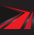 abstract red arrow speed direction on black vector image vector image