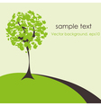 abstract stylized origami tree vector image