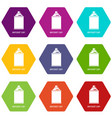 aerosol can icons set 9 vector image vector image