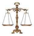 antique ornate balance scales vector image
