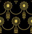 arabic golden luxury seamless pattern on black vector image vector image