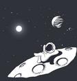 astronaut sunbathes on the moon vector image vector image