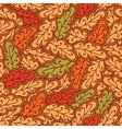 Autumn oak leaves seamless pattern vector image vector image