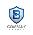 b letter shield house icon logo design template vector image vector image