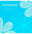 background with cute cashmere pattern vector image vector image