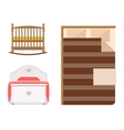 bed icon set vector image