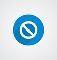 Blue Flat Prohibition Icon vector image