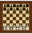 Brown and yellow chess board vector image vector image