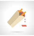 Burrito with sauce flat color icon vector image