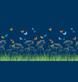 butterflies on the night meadow vector image