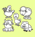 cartoon forest animal characters vector image vector image