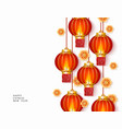 chinese new year or holiday banner with red vector image vector image