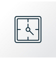 clock icon line symbol premium quality isolated vector image