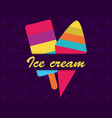 colorful ice cream on dark background vector image