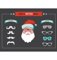 Create your own hipster Santa Christmas card vector image vector image