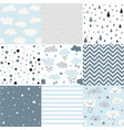 cute seamless patterns for weather design vector image vector image