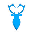 deer slice paper blue and white vector image vector image