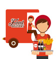 delivery food vector image vector image