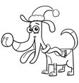 dog with scarf coloring book vector image vector image