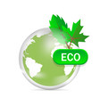 eco friendly green earth design isolated on white vector image