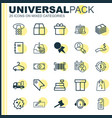 ecommerce icons set collection of peg rich till vector image vector image