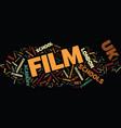 film school in uk text background word cloud vector image vector image