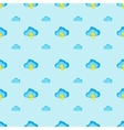 flat modern cartoon clouds seamless pattern vector image vector image